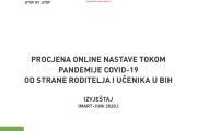 Istraživački izvještaj: Procjena online nastave tokom pandemije COVID-19 od strane roditelja i učenika u BiH